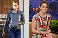 Check us out on Twitter https://twitter.com/#!/NoSeriouslyOff / Kristen Stewart Before  After