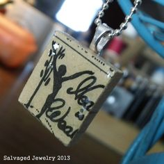 Healthy is Wealthy Scrabble Tile Pendant by SalvagedJewelry, $15.00