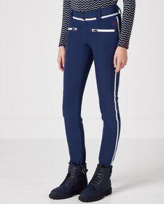 Womens Aurora II Skinny Ski Pants Navy Snow White  22c88545c