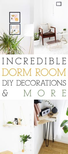 Incredible Dorm Room DIY Decorations And More - The Cottage Market