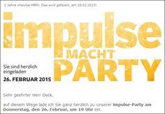 Fliege heute morgen nach Hamburg. Einladung zu ´impulse´