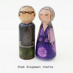 Peg Dolls ~ A Beautiful Couple
