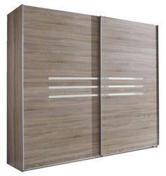 Nice Armoire portes coulissantes Anna chambre coucher imitation chene