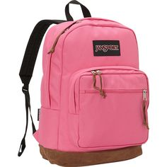 JanSport Right Pack Laptop Backpack- Discontinued Colors - Lipstick... ($37) ❤ liked on Polyvore featuring bags, backpacks, pink, rucksack bags, backpack laptop bags, pink laptop bag, day pack backpack and pink backpack