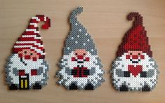 Christmas elves hama beads by Majken Skjølstrup