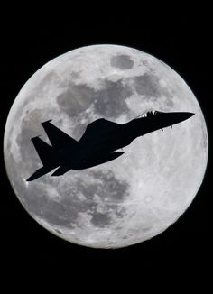 F-15 Eagle and the Moon