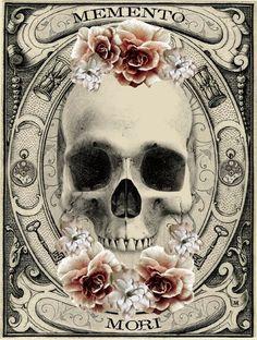 Gothic Bracelet - Memento Mori Bracelet - The Second Circle - Dante's Inferno… Totenkopf Tattoo, Skulls And Roses, Theme Halloween, Illustration, Vanitas, Gothic Art, Gothic Lolita, Skull Art, Dark Art