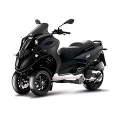 "Piaggio MP3 500, Max Speed: 89 mph, 55 mpg, the front wheels ""lean with your turn"" to promote stability... it's a motorized 2 year old's first scooter! $8899"