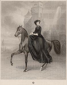 ca. 1853 Kaiserin Elisabeth von Österreich als Braut vor Possenhofen 1853, Stahlstich von A. Fleischmann nach einem Gemälde von Carl Piloty ...
