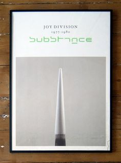 Joy Division poster designed by Peter Saville, 1977-1980