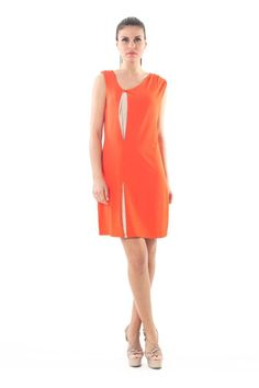 Vivid color, pleat details and SPECIAL PRICE for this unique dress! From ONLY find your perfect fit the link below. Fashion Shops, Your Perfect, Vivid Colors, Cool Style, Neon, Orange, Detail, Unique, Link