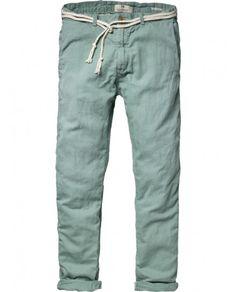 #Menswear #Pants - Chino beach pants with cord belt - Pants - Scotch & Soda Online Shop