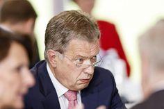 Presidentti Sauli Niinistö Kultaranta-keskusteluissa Naanatalissa 20. kesäkuuta.