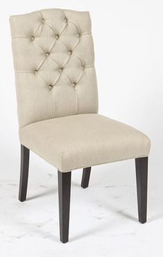 Marcella Linen Side Chair - Putty