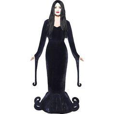 Addams Family Kleid schwarz Morticia Damen Kleid Halloween