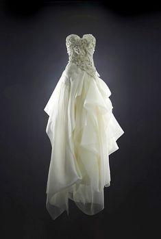 modern couture wedding dress by Rubin Singer, 2014 bridal collection   via junebugweddings.com
