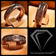 I love designing men's wedding bands with panache! This new band is done in rosé gold, accented with cogniac diamonds for a look that is handsome and stately. To all the guys out there, would you rock this style? #diamonds #weddings #weddingring #weddingband #rosegold #men #style #thediamondstudio