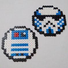 Star Wars badges perler beads by joakawaka