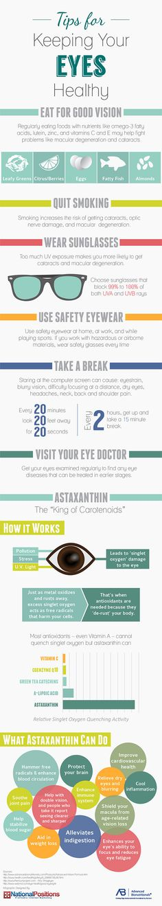 Tips for Keeping Your Eyes Healthy   #infographic #Eyes #health
