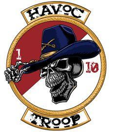 HHT 1-10 CAV Havoc Troop Shirt $19.95