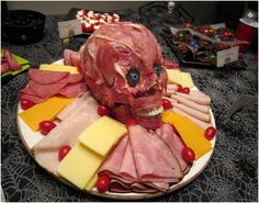 Gross. Yet, awesome. Ultra Creepy Halloween Meat Head