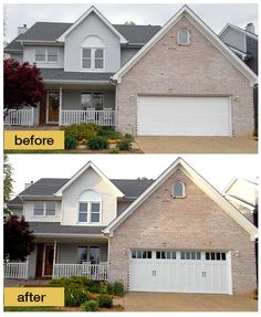 Garage Door Makeovers   Before And After Photos. Garage DesignDoor DesignCarriage  House ...