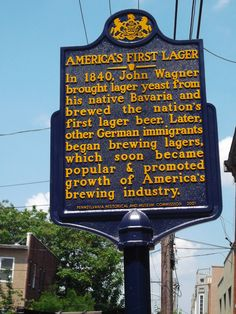 In 1840, John Wagner, stocked with lager yeast from his native Bavaria, brewed the nation's first lager beer in Philadelphia. http://ow.ly/QLNOW