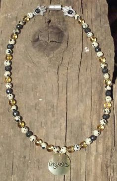 Custom Creation Citrine Zebra Jasper & Magnitite with Hematite Beaded Necklace, Necklaces, Crystal Healing, Jasper, Crystals, Jewelry, Beaded Collar, Pearl Necklace, Jewels