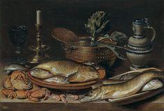Clara Peeters (ок.1594 – 1657) Натюрморт с морепродуктами  1611_50 х 72_д.,м.  Мадрид, музей Прадо