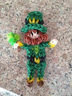 Rainbow Loom LEPRECHAUN. Designed (?) and loomed by Kelly Serrell Motta. (Rainbow Loom FB page)