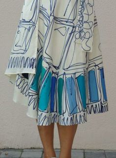 Wrap skirt  hand painted silk,  Skirt, wrap skirt  silk party, Chic
