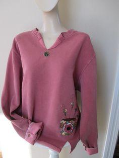 Women's Appliqued Sweatshirt Coffee or Tea by StitchesbyJulia