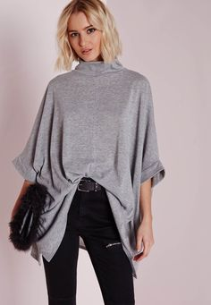 Missguided - Cut and Sew Kimono Grey