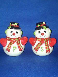 christmas salt and pepper shaker sets | Vintage Salt and Pepper Shakers Set Sets Christmas Snow Men People ...