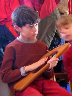 Playing the lyre at Emerson Waldorf school