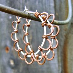 Daisy Hoop Earrings Recycled Sterling Silver and by FullSpiral, $42.00