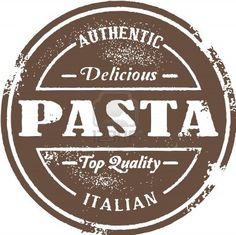 Vintage Italian Pasta Stamp Stock Photo - 14651212
