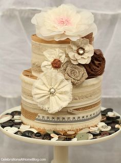 peach colored shabby chic things | shabby chic cake diy centerpiece