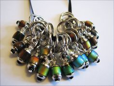 Mood Bead NonSnag Stitch Markers by winemakerssister on Etsy, $11.95 I know its not jewelry. I think a jewelry maker could create some for her sister.