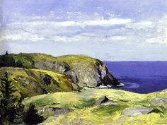 """Blackhead, Monhegan,"" Edward Hopper, ca. 1918, oil on wood panel, 11 1/2 x 16"", New Britain Museum of American Art."