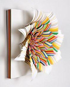 Paper Sculpture Art by Jen Stark Jen Stark, 3d Paper Art, Paper Artwork, Cut Paper, Paper Artist, Paper Bows, Paper Flowers Craft, Flower Crafts, Flower Paper