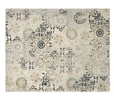 Talia Printed Rug, Gray Multi At Pottery Barn - Rugs & Windows - Patterned Rugs Room Rugs, Rugs In Living Room, Living Area, Grey Furniture, Home Furniture, Boston Furniture, Pottery Barn, Blue Pottery, Large Area Rugs