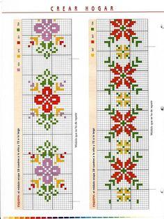 Cenefas en punto de cruz     (pág. 6)   Aprender manualidades es facilisimo.com
