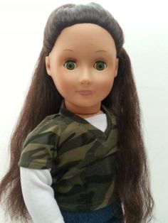"""Battat Our Generation 18"""" Doll Green Eyes Brown Hair Full Outfit Boots VGC #DollswithClothingAccessories"""
