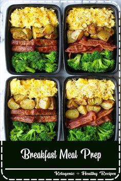 Healthy Dinner Recipes Discover Breakfast Meal Prep Breakfast Meal Prep - Now you can sleep in and eat a filling and hearty breakfast ALL WEEK LONG! Eggs bacon or sausage roasted potatoes and broccoli! Easy Healthy Meal Prep, Easy Healthy Recipes, Easy Meals, Healthy Delicious Meals, Simple Meal Prep, Health Food Recipes, Fit Meals, Simple Diet, No Cook Meals