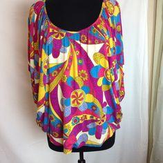 Voom top Voom multi colored knit top Voom by Joy Han Tops Blouses