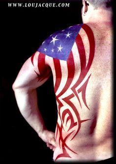 Looking for unique Patriotic tattoos Tattoos? Mark's Flag