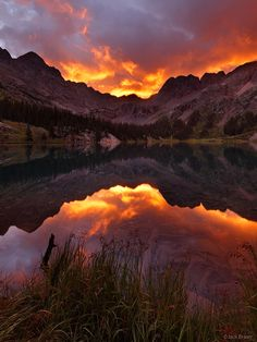 Fiery Weminuche Sunrise, San Juan Mountains, Colorado
