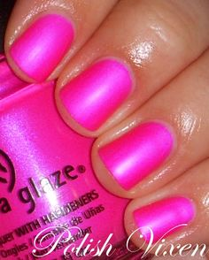 China Glaze Purple Panic (matte, frosty neon) absolutely loving this color. Get Nails, Love Nails, How To Do Nails, Pretty Nails, Hair And Nails, Nagel Gel, Tips Belleza, Nail Polish Colors, Pink Polish