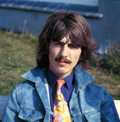 George Harrison during shooting Magical Mystery Tour, September 12 1967, by David Redfern